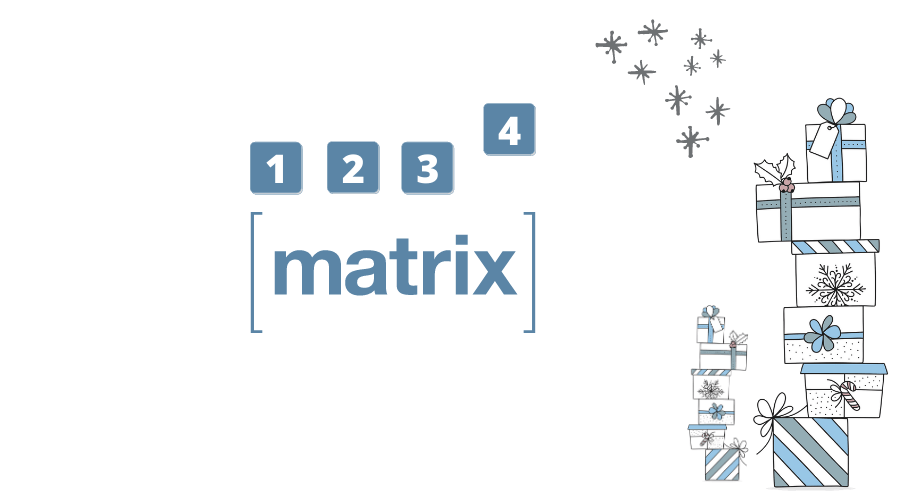 HIGH LEVEL Projects Online Adventskalender 4 Felder Matrix